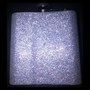 Other - Silver glitter flask